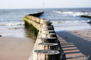Buhnen am Strand von Wangerooge