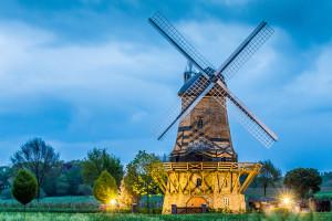 Selingsmühle in Neuenkirchen bei Abenddämmerung